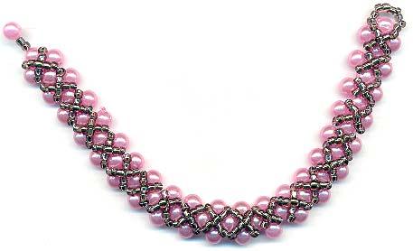 Bracelet from braided beads