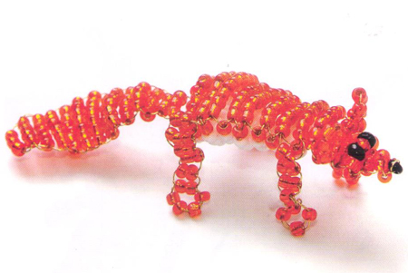 Fox. Animals beaded
