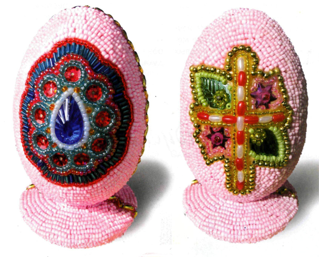 The beaded eggs-beaded. Egg Holiday