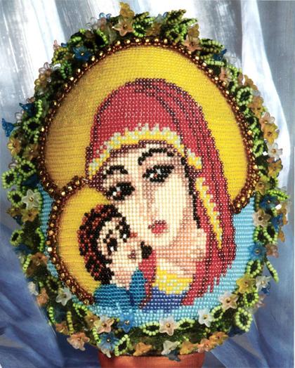 Easter gift egg bead blessed virgin Mary