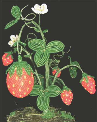 Egg Strawberry. The beaded eggs-beaded (schema)