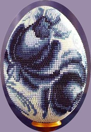 Гжель. Схема обплітання яйця і опис роботи