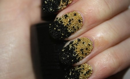 Manicure with beads
