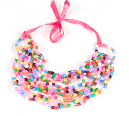 Bright summer necklace