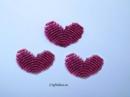 Simple hearts bead