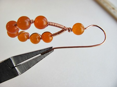 Work with beads and wire