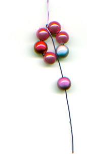 Flower bracelet made of beads