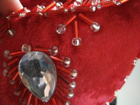 Embroidery with beads and sequins