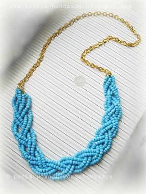Turquoise summer necklace