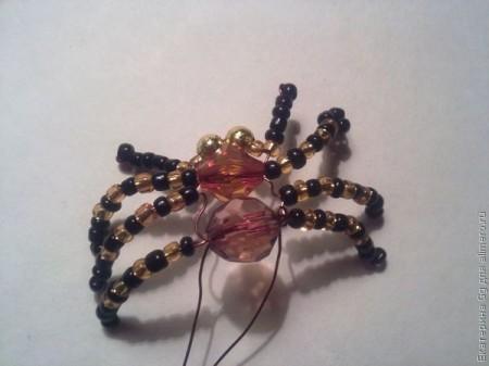 Подвеска и кольцо в виде паука