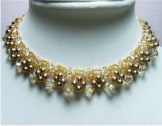 Плетем золотое ожерелье
