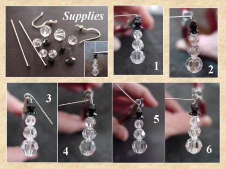Earrings snowmen