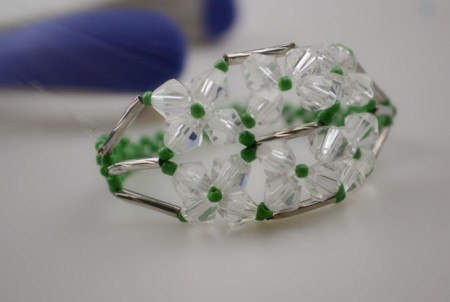 Very delicate floral bracelet