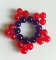 Small flower round beads