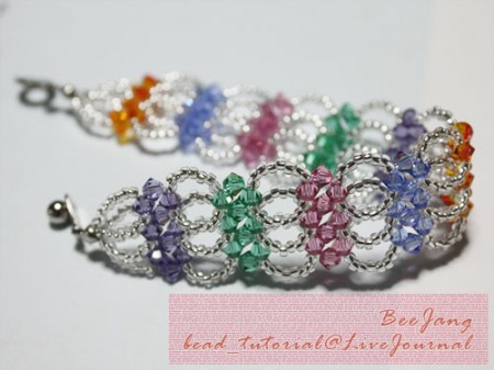 Layered bracelet with bicone