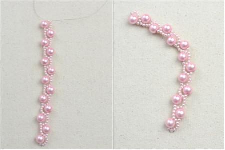 Delicate pink bracelet