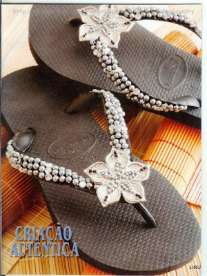 Decorate flip flops for the summer