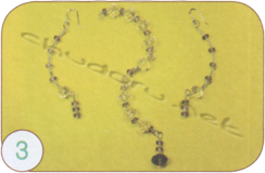 Earrings and pendant Amethyst rain