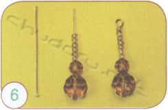Earrings and pendant Antique amber
