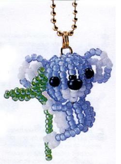 Koala. Key chains beaded