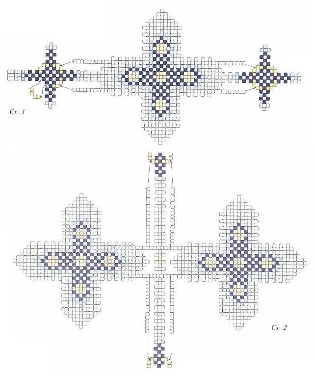 Великодні яйця з бісеру «Веселка» і «Блакитні хрести»
