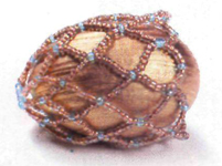 Mesh and forget-me-not. Egg bead for beginners