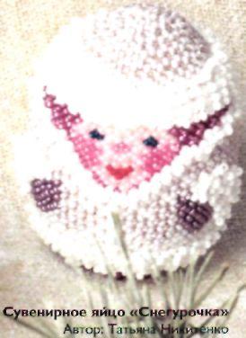 Gift egg the snow maiden
