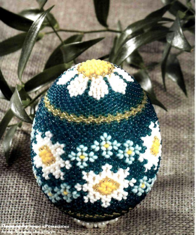 Пасхальне яйце «Ромашки»