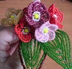 Цветок примулы из бисера