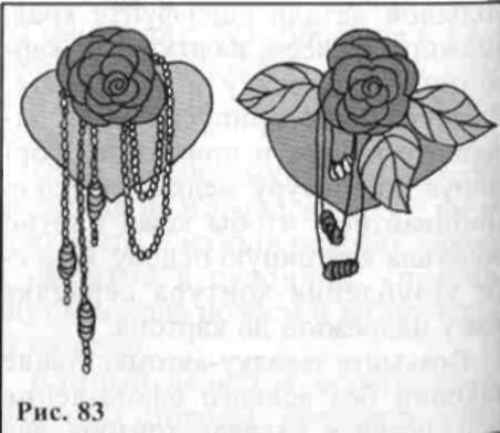 Barrette with red rose