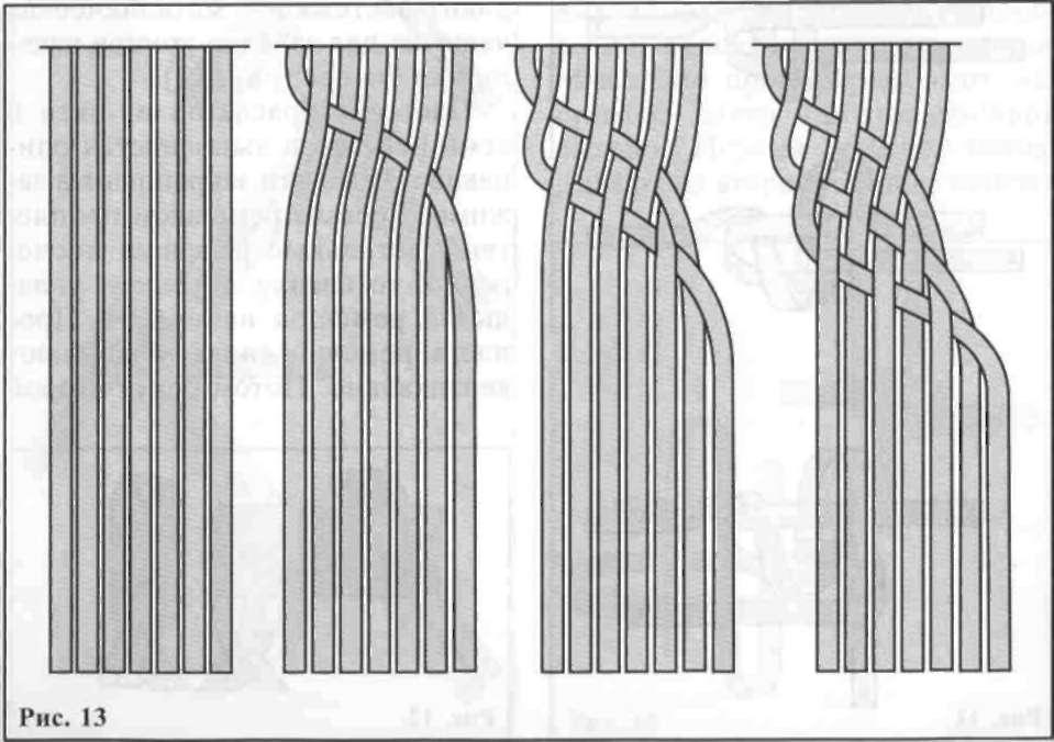 Плетение из ткани браслеты