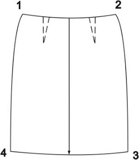 Treatment of the skirt: description external view and parts cut