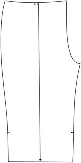 Processing pant: details of the cut