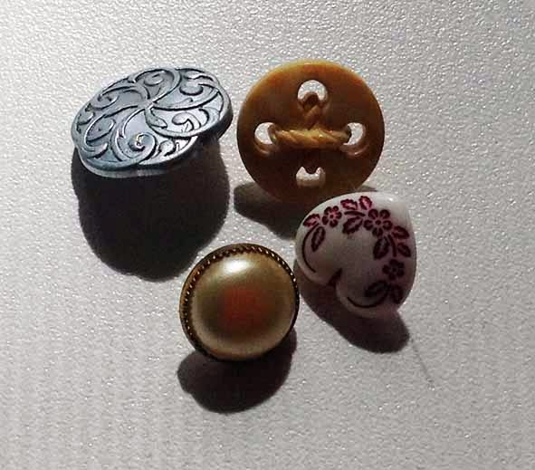 Стежки для пришивания фурнитуры - сферические пуговицы