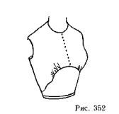 The strapless bodice yoke and gathers instead of Darts