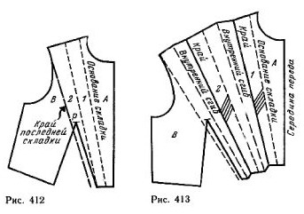 Моделирование складок на лифе