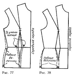 Reduction of the solution tucks on the front panel of the skirt