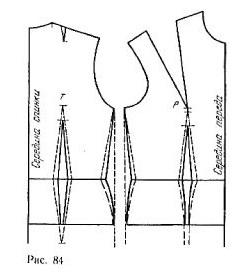 Tuck semi-fitted bodice
