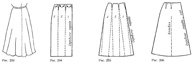 Skirt with tails from the waist line