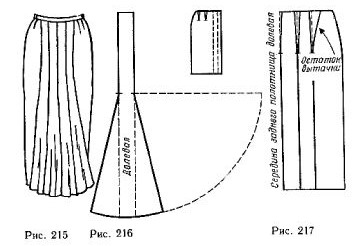 Skirt made of narrow strips extended down