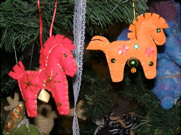 Мастер-класс. Изготовление новогодней лошадки из фетра