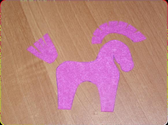 Заготовки для лошадки из фетра