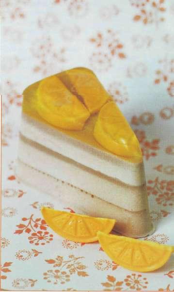 Тортик с лимонными дольками