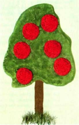 Вязание крючком яблони