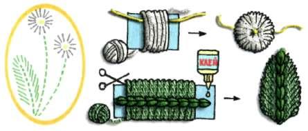 Вязание одуванчика