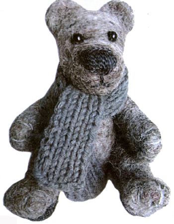 Bear. Dry felting toys