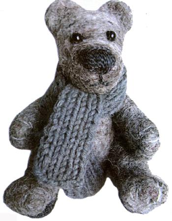 Ведмедик. Сухе валяння іграшок