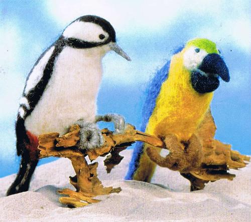 Felted birds. Feliziani