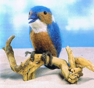 Повстяні птиці. Фильцевание
