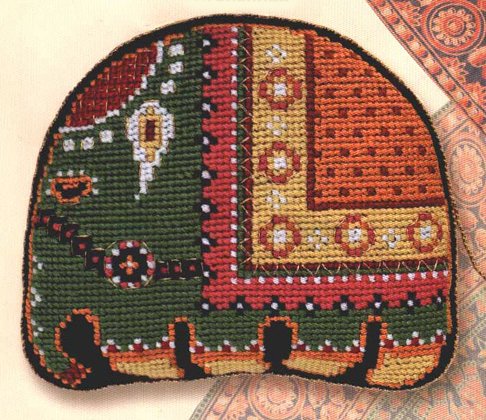 Pincushion with your hands Indian elephant